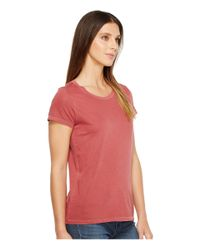 Alternative Apparel - Red Cotton Jersey Vintage Tee - Lyst