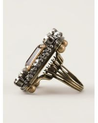 Lanvin | Metallic 'cassiopee' Cocktail Ring | Lyst