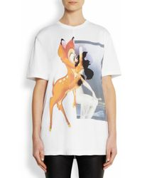 Givenchy | White Bambi Print Cottonjersey Tshirt | Lyst