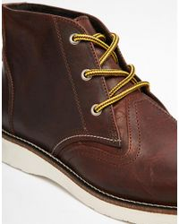 SELECTED - Brown Charles Leather Boots for Men - Lyst