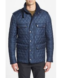 Burberry Brit | Blue 'russell' Quilted Field Jacket for Men | Lyst