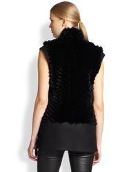 Helmut Lang - Black Pike Rabbit Fur Vest - Lyst