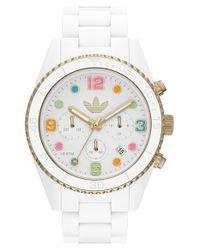 Adidas Originals - White 'Brisbane' Chronograph Bracelet Watch for Men - Lyst