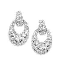 Swarovski - Metallic Rarely Crystal Drop Earrings - Lyst