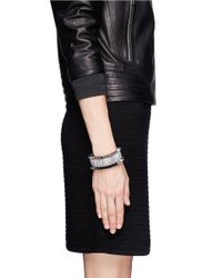 Venna | Metallic Crystal Pavé Spike Bracelet | Lyst