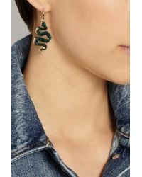 Marc By Marc Jacobs - Black Gold-Tone, Acetate And Cubic Zirconia Snake Earrings - Lyst