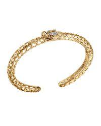 John Hardy | Metallic Batu Naga 18k Gold & Diamond Slim Dragon Cuff | Lyst