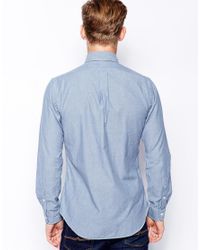 Polo Ralph Lauren - Blue Chambray Shirt in Slim Fit for Men - Lyst