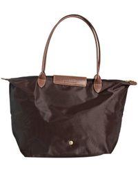 Longchamp | Black Chocolate Nylon 'Le Pliage' Large Folding Shopper Tote | Lyst