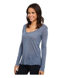 Splendid - Blue 1x1 V Neck T-shirt - Lyst