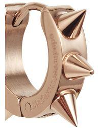 MFP MariaFrancescaPepe | Metallic Rose Gold Tone Studded Hoop Earrings | Lyst