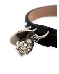 Alexander McQueen - Black Skull Charm Bracelet for Men - Lyst