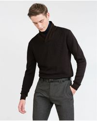 Zara | Black Structured Sweater for Men | Lyst