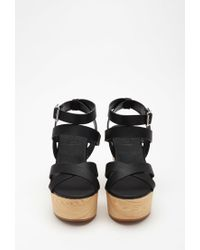 Forever 21 - Black Classic Strappy Wedges - Lyst