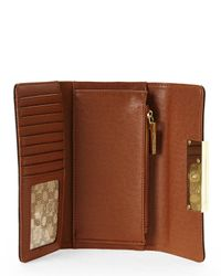 Ivanka Trump - Brown Cocoa Heather Organizing Wallet - Lyst