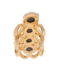 Isharya - Metallic Goddess Honeycomb Ring - Lyst