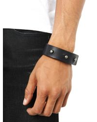 Rick Owens - Black Stud Leather Bracelet for Men - Lyst