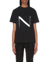 Nicopanda | Black Zip-detailed T-shirt | Lyst