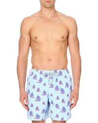 Vilebrequin | Blue Moorea Boat-print Swim Shorts - For Men for Men | Lyst