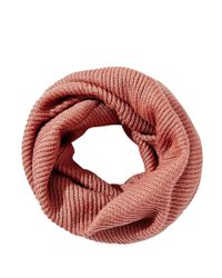 ASOS - Pink Fine Rib Funnel Infinity Scarf - Lyst