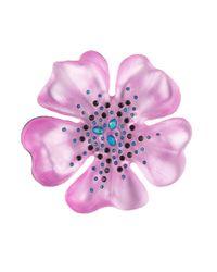 Alexis Bittar - Pink Encrusted Flower Pin - Lyst