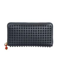 Christian Louboutin - Black Panettone Spiked Zip Wallet - Lyst