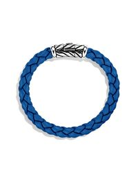 David Yurman | Chevron Rubber Weave Bracelet In Blue, 8mm for Men | Lyst