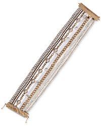 Lucky Brand - Multicolor Two-tone Multi-strap Bracelet - Lyst
