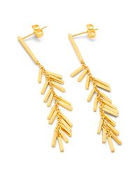 Gorjana | Metallic 'cameron' Bar Fringe Drop Earrings | Lyst