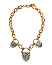 Lulu Frost | Metallic Dauphiné Pearly Stick Collar Necklace | Lyst