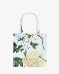 Ted Baker - Green Small Distinguishing Rose Shopper Bag - Lyst