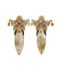 Wendy Yue | Metallic Rutilated Quartz Earrings | Lyst
