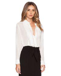 Jenni Kayne - White Pleat Shirt - Lyst