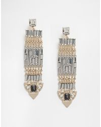 Oasis - Multicolor Luxe Stone Detail Statement Drop Earrings - Lyst