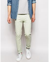 Farah | Green Skinny Fit Stretch Jean for Men | Lyst