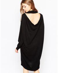 Just Female - Black Air Jumper Dress - Lyst