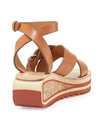 Isabel Marant - Brown Zena Leather Striped Sandals  - Lyst