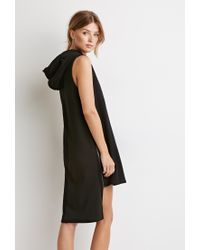 Forever 21 | Black Contemporary Drawstring Hooded Dress | Lyst