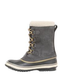 Sorel - Gray 1964 Pac Leather Boots - Lyst