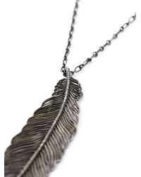 Monan | Metallic Feather Pendant Necklace | Lyst