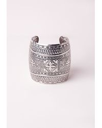 Missguided | Metallic Antique Silver Cuff | Lyst