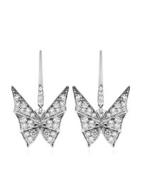 Stephen Webster | Diamond Butterfly White Gold Earrings | Lyst