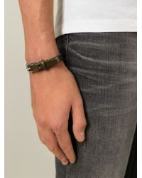 DIESEL | Brown 'amar' Bracelet for Men | Lyst