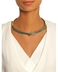 Aurelie Bidermann | Blue Apache Gold-Plated Necklace | Lyst