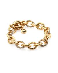Michael Kors - Metallic Skorpios Braided Link Toggle Bracelet - Lyst