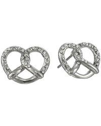 Marc By Marc Jacobs - Metallic Salty Pretzel Studs Earring - Lyst