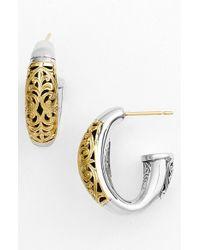 Konstantino | Metallic 'classics - Daphne' Hoop Earrings | Lyst