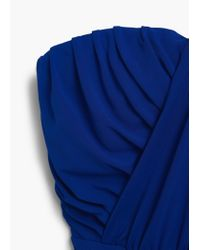 Mango | Blue Draped Gown | Lyst