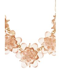 Coast | Orange Fern Flower Necklace | Lyst