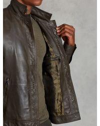 John Varvatos - Green Short Leather Jacket for Men - Lyst